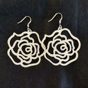 Sparkling Earrings Handcrafted Stainless Steel